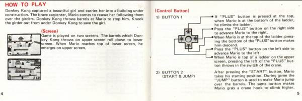 Also, the Donkey Kong manual is seriously charming.