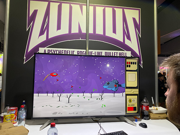 Zunius is somewhat akin to Sega's classic Fantasy Zone, but it's Fantasy Zone after a particularly bad hangover (and I mean that in a nice way!)