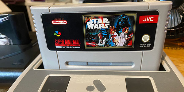 A long time ago, in a galaxy far far away, for a game that will NEVER be officially released again. Also, yes, I own PAL SNES carts. Don't write in telling me about PAL/NTSC differences. I know. I know.