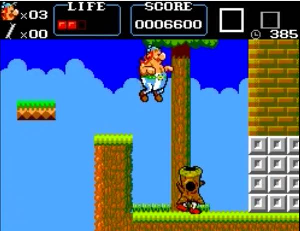 Obelix should NOT look like an obedient puppy when he jumps. It's just... wrong!