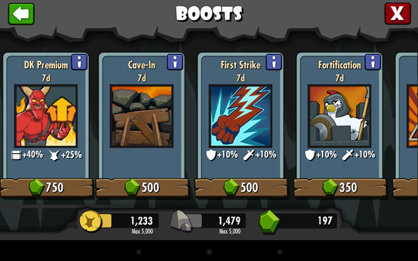 Even boosts designed to get you more money in-game will cost you more real-world money.