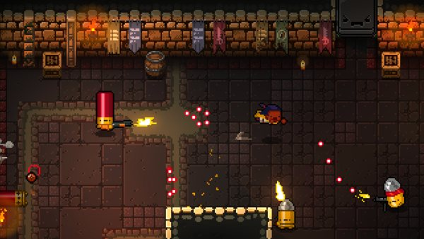 In boxing, taking a dive is a bad thing. In Enter The Gungeon, it's one of the few thing that will keep you alive.